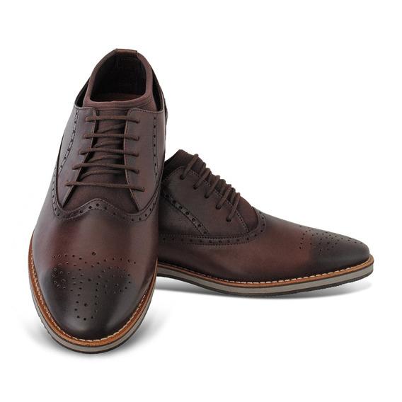 Sapato Social Masculino Oxford Modelo Inglês Luxo Couro
