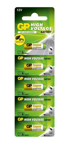 Kit 100 Pilhas Baterias 27a 12v Alcalina Gp Super Controle Alarme Portão - 20 Cartelas