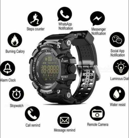 Relógio Smartwach Lokmat Ex16 Militar. G-shock