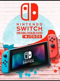 Nintendo Switch 160gb Desbloqueado Com Atmosphere+suporte