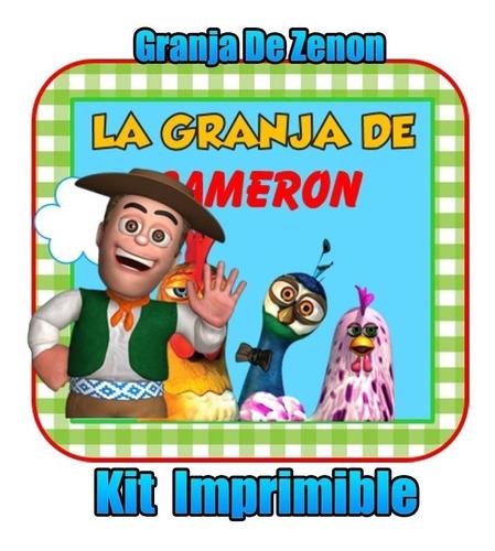Kit Imprimible  Granja De Zenon