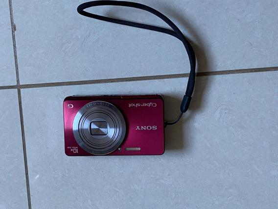 Câmera Sony Cyber-shot Dsc W690 Zoom 10x 16.1mp Vermelho