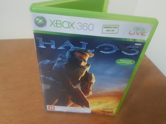 Halo 3 Usado Original Manual Xbox 360 Midia Fisica