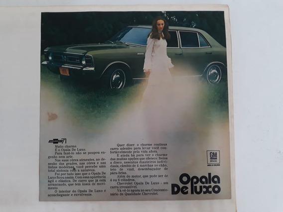 Propaganda Antiga Chevrolet Opala De Luxo 2500 1971 Anúncio