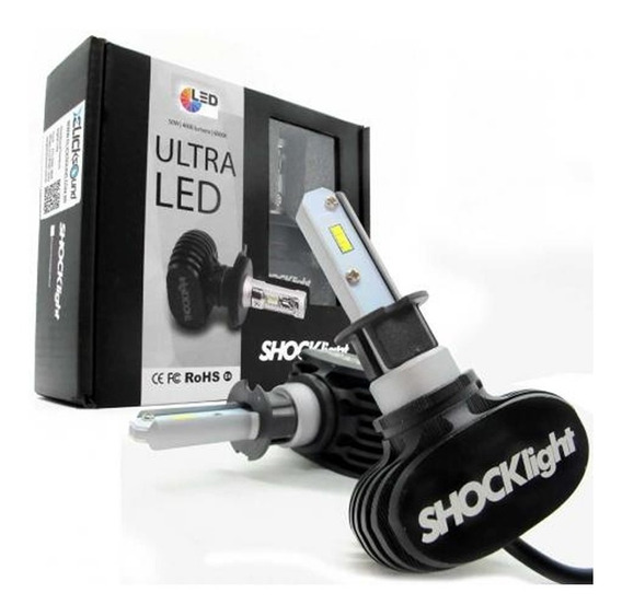 Kit Lampada Led Automotiva Ultra Led Shock Light Encaixe H3