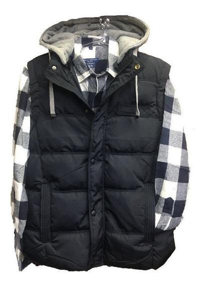 Blusa Masculino Colete Com Camisa Xadrez Frio Com Junto