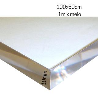 10mm Espessura Chapa Placa Acrílico Cristal Cast 100x50cm