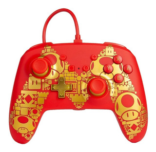 ..:: Control Pro Alambrico ::.. Switch Super Mario Gold Gc