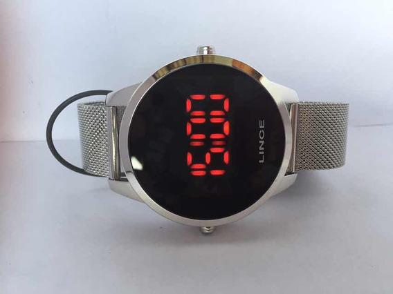 Relógio Lince Led Masculino Unissex Prata Mdm4586l Pxsx