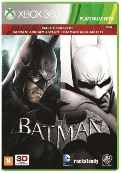 Jogo Pack Batman Arkham Asylum E City Xbox 360 Mídia Física