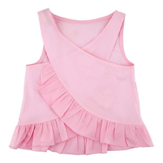 Blusa Para Niña Cruzada Parte De Enfrente En Oferta 03914