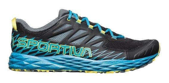 Tenis Hombre Carrera Montaña Lycan Negro/azul La Sportiva