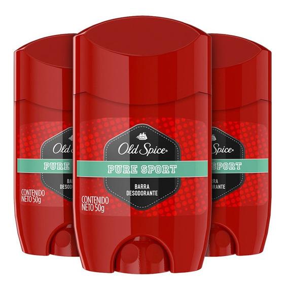 Pack X 3 Old Spice Pure Sport Barra Desodorante 50g