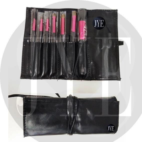 Paquete Brochas Maquillaje Jye 7 Pcs Con Estuche 5000 Piezas