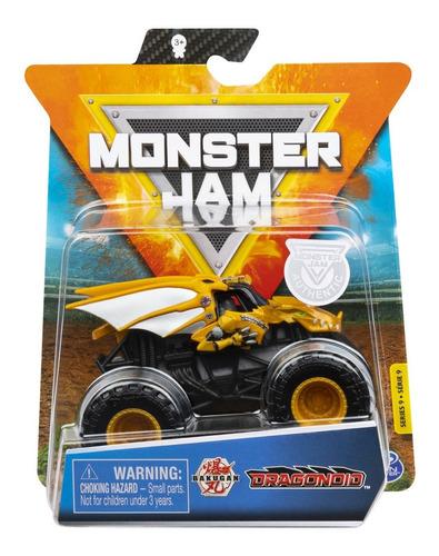 Imagem 1 de 5 de Monster Jam Truck - Carro Dragonoid - Escala 1:64 - Sunny