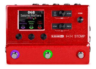 Line 6 Hx Stomp Red Pedal De Guitarra Envio Gratis