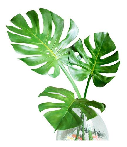 Hojas Artificiales Costilla Adán 70x30cm Flores,plantas