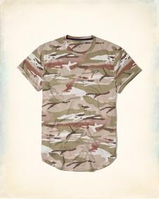 Camiseta Hollister Abercrombie Masculina Original Tam P Mr/v