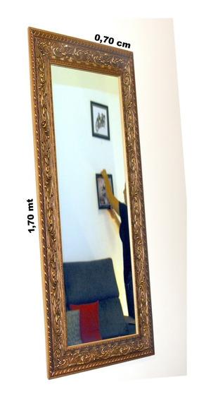 Espelho Grande De Chão 1,70 X 0,70mts Com Moldura Classica