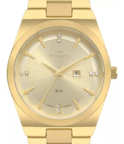 Relógio Technos Trend Feminino 2015cdb/4d Dourado + Nota