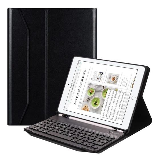 Capa Case + Teclado Bluetooth Íma Suporte Caneta iPad 6 9.7