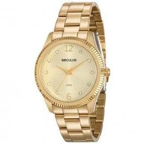 Relógio Seculus Feminino 20569lpsvds1 2 Anos De Garantia