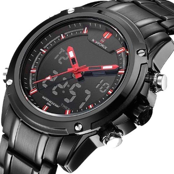 Relógio Naviforce Masculino 9050 Esporte Casual Preto