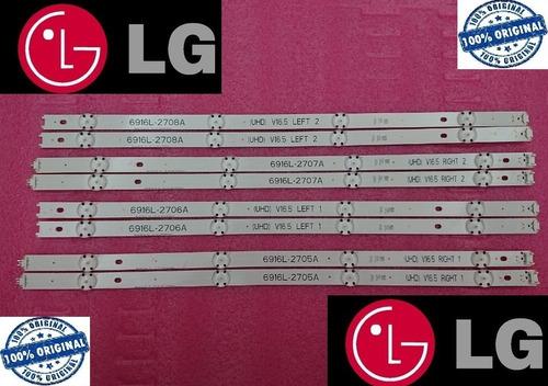 Imagen 1 de 7 de Kit 8  Tiras  Led  LG  49uh6030  Nuevos  Originales
