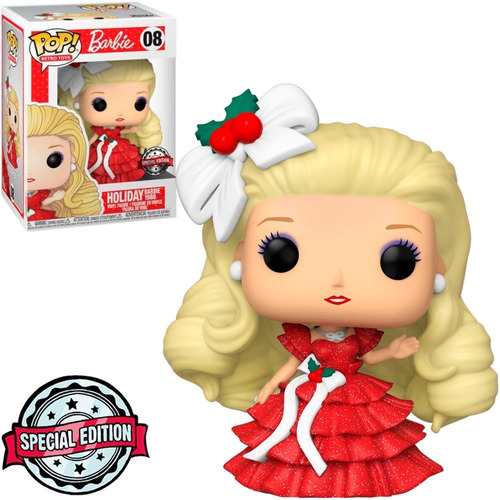 Imagem 1 de 4 de Funko Pop Retro Toys Barbie Holiday Natal 08