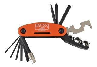 Kit Herramientas Bahco Para Bicicleta Bke850901 17 Funciones Tubos 1/4 Allen