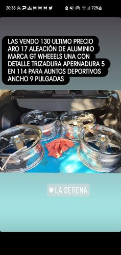 Llantas Gt Aro 17 Gt Wheels Apermadura 5 Dm 114