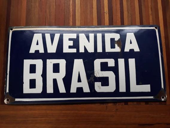 Placa Da Av. Brasil