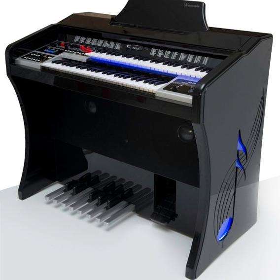 Órgão Novo Harmonia Hs200 Super Preto Ou Branco Brilho