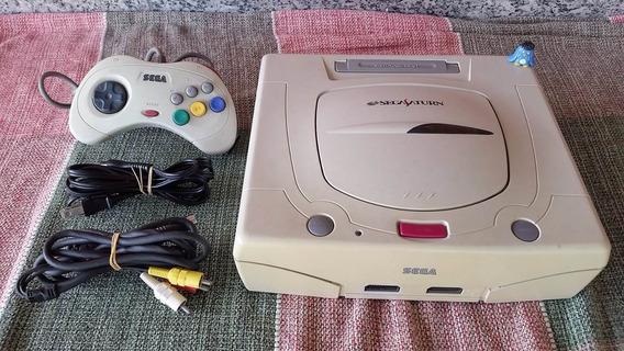 Sega Saturn Console Branco Japonês Funcionando A4