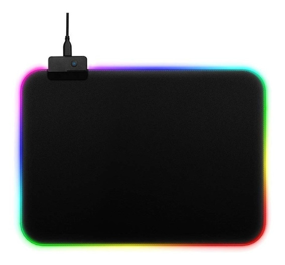 Mousepad Gamer Led Rgb Iluminado Multicores 35x25 Cm Medio