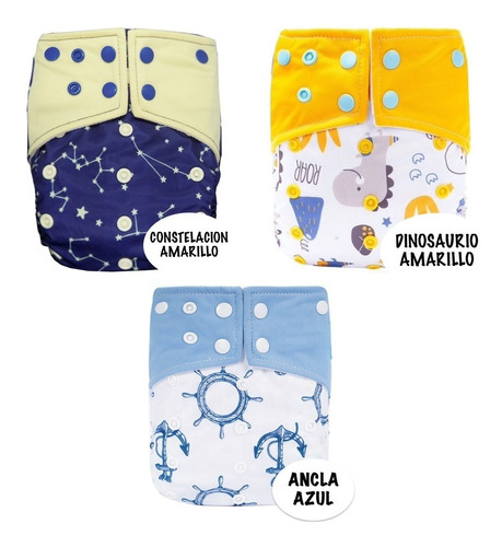 Pack De 3 Pañales Ecológicos De - Unidad a $35000