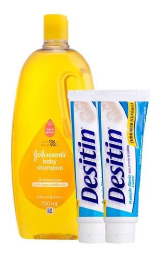 Shampoo Regular Johnsons Baby 750 Ml + 2 Cremes Desitin 113g