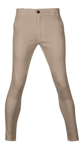 Imagen 1 de 3 de Pantalones Hombre Chupines De Vestir Gabardina Elastizado