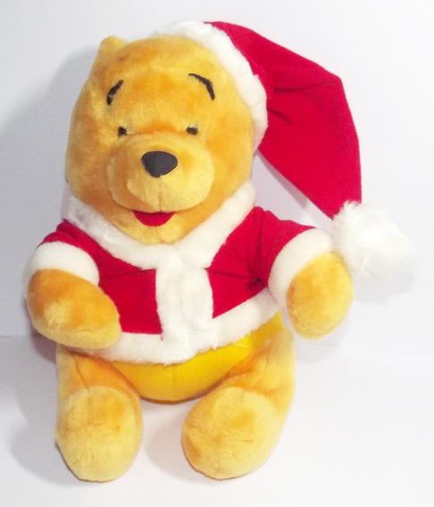 Boneco Pelúcia Urso Pooh De Papai Noel Fofo Desenho Disney