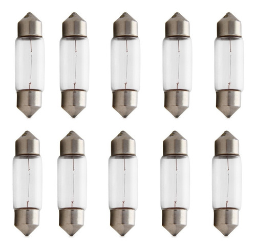 Lampada Torpedo 12v 5w Pequena Com 10