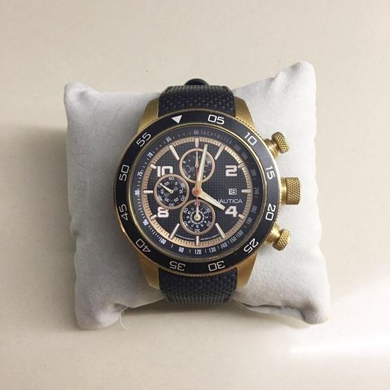 Relógio Nautica Masculino Borracha Preta - A24531g