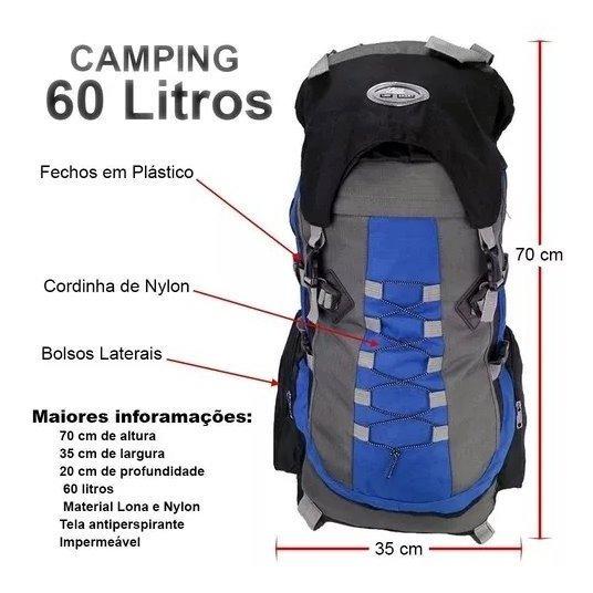 Mochilao Camping 55l Verde Trilha Viagem Resistente Promoção