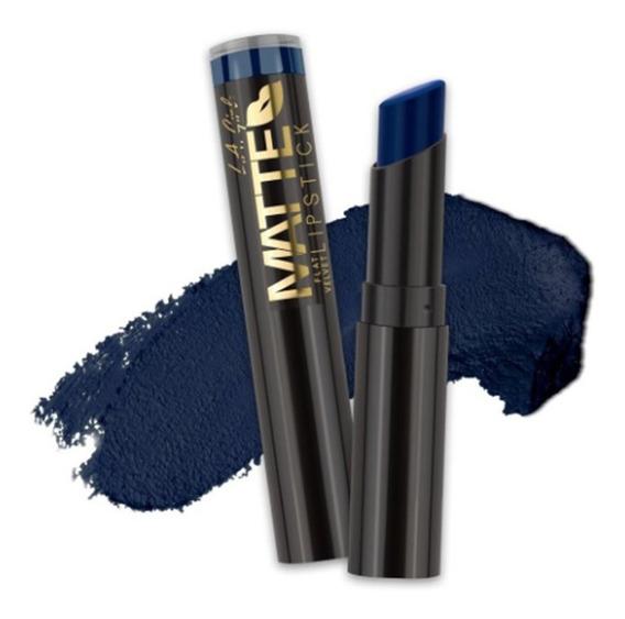 Labial Mate Valentine Azul Glc825 Original La Girl Makeup