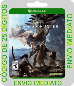 Monster Hunter World Xbox One Código De 25 Dígitos