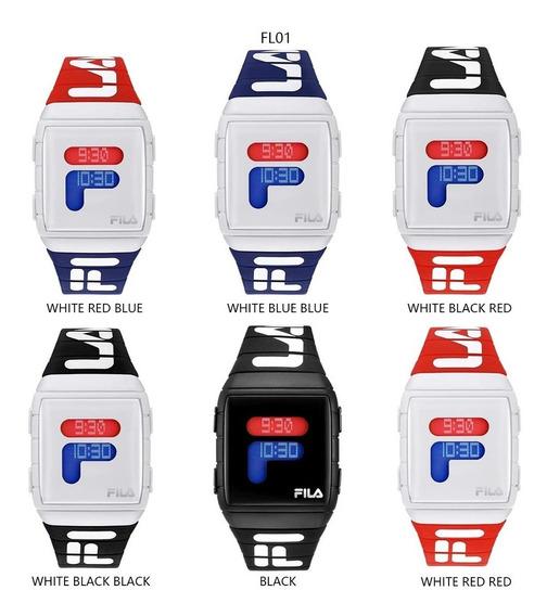 Relógio Fila Digital Unissex Masculino Feminino Cores