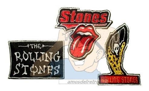 Parche Bordado Musica Rock Rolling Stones X Unidad Adr