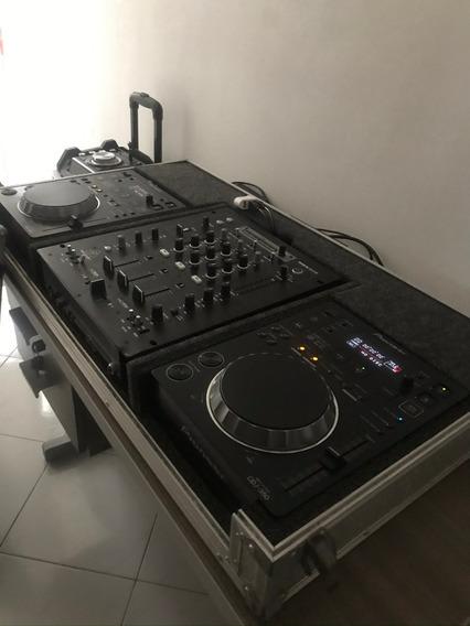 Par De Cdj 350 + Mixer Behringer Nox 303 + Hardcase + Cabos