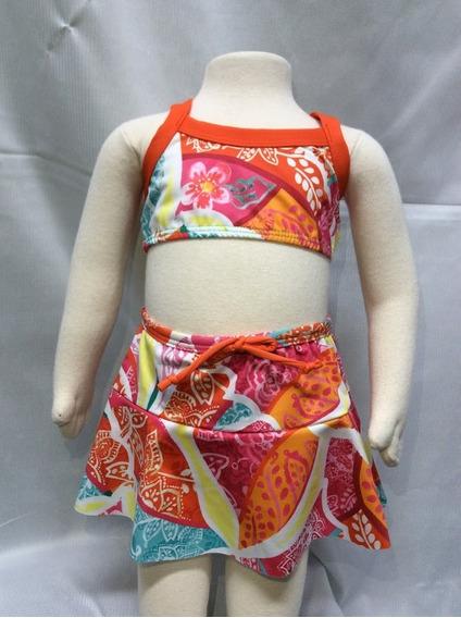 Biquíni Bebê Puc - 3 Peças - Medidas Abaixo - Cod 2469