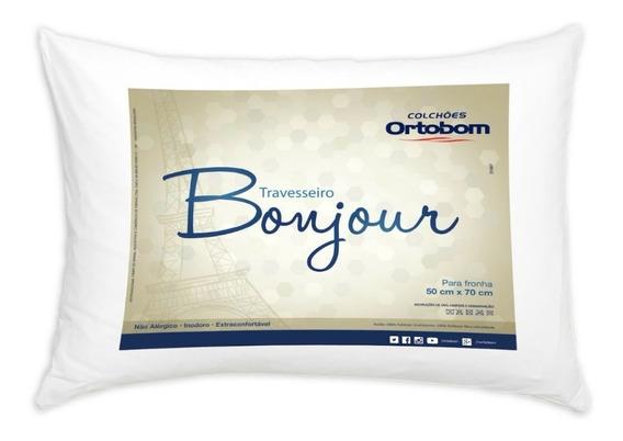 6 Travesseiro Bonjuor 50x70 Cm Fibra Siliconizada - Ortobom