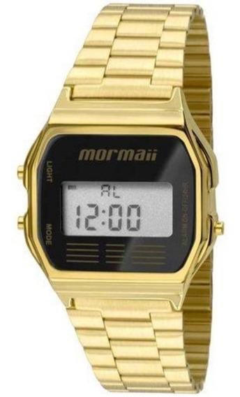 Relógio Mormaii Vintage Dourado Original Garantia
